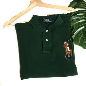 Polo Ralph Lauren Big Pony Green Polo Size Medium